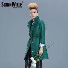 SKINNWILLE2016 fashion light warm female cotton-padded jacket