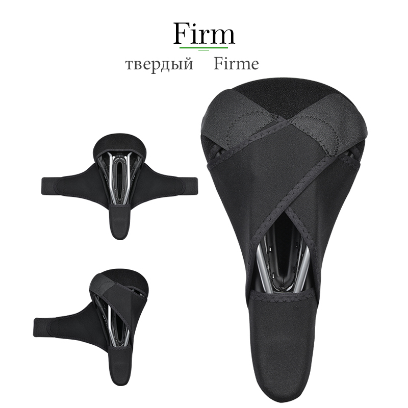 ROCKBROS MTB Lycra+Sponge Bicycle Bike Cycling Saddle Soft Cushion Seat Match Hollow Saddle Cover Breathable Anti-Slip 2 Size