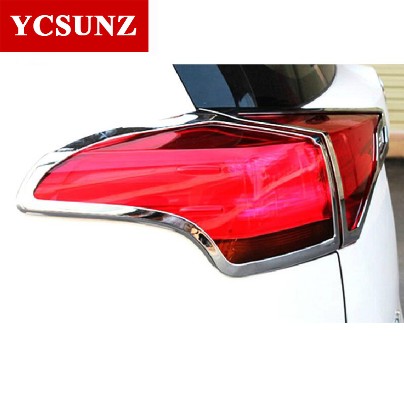For Toyota Rav4 Accessories ABS Chrome Rear Lamps Cover For Toyota Rav4 2014 2015 car-styling Rav4 Decorative Parts Ycsunz