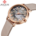 JULIUS Stylish Ladies Watch Creative Girl Dress Women Watches Leather Strap Fashion Casual Quartz Watch Montre Relogio Feminino