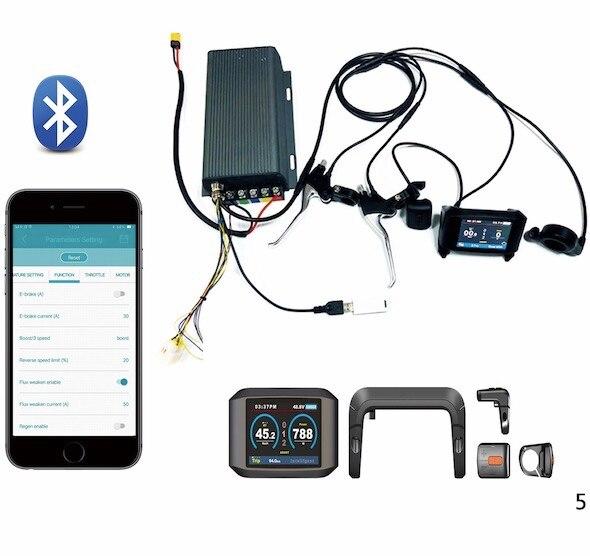 TFT display 36v 72v 150a 8000w motor electric bike controller sine wave font b system b