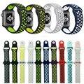 2017 лучших ремешок Lemse Спорт 38 мм 42 мм Силиконовые Спортивные Группы Ремешок для Apple Watch Nike 38/42 Носимых Ремешки браслет