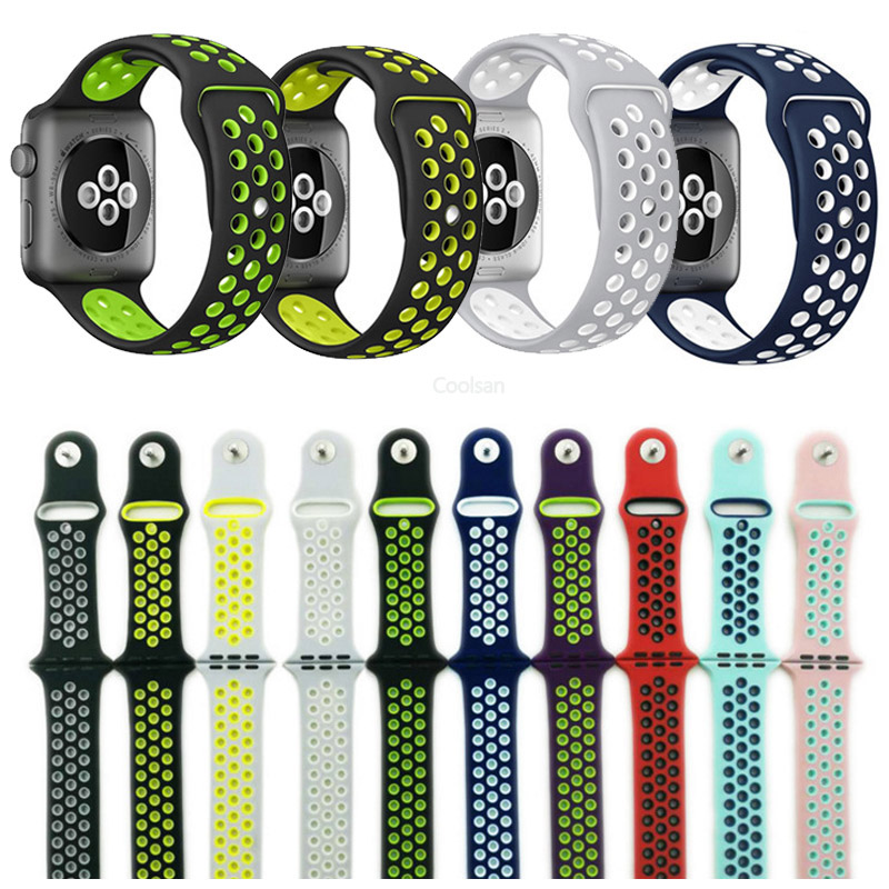 2017 best watch strap for Apple iWatch Nike Sport Band 38mm 42mm Silicone Sports Band Strap 38/42 Wearable Watchbands Bracelet