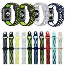 2017 meilleur bracelet pour apple iwatch nike sport bande 38mm 42mm silicone de sport de courroie de bande 38/42 portable bracelets bracelet