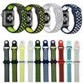 2017 mejor reloj correa lemse sport 38mm 42mm deportes de silicona correas de reloj correa de la banda para apple watch nike 38/42 portátil pulsera