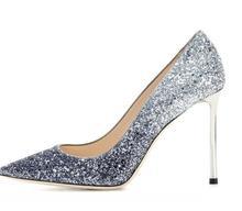 2016 Fashion Sequine High Thin Heels Women Pumps Sexy Plus Size US4-US15 New Arrive Hot Sale Ladies Party Shoes Cheap Modest