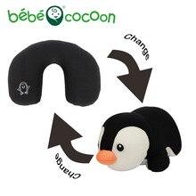 Bebecocoon Pingüino de Peluche en convertible Almohada de Viaje