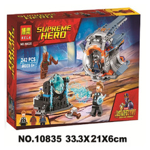 цена на 242pcs Super Heroes Avengers Thors Weapon Quest Rocket Groot 10835 Model Building Blocks Toys Bricks Compatible With Lego