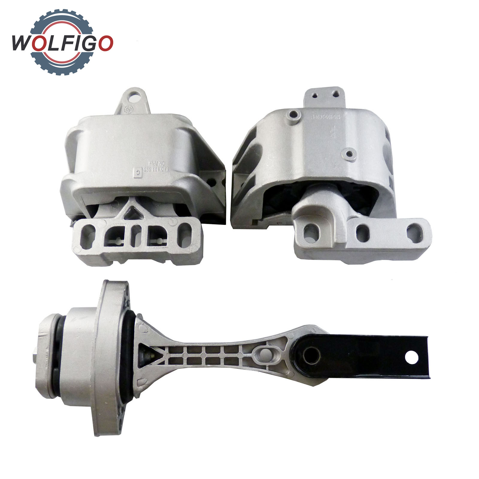 WOLFIGO Set 3PCS Motor Trans Mount Front Left Right and Right Rear Set for 1998 2006