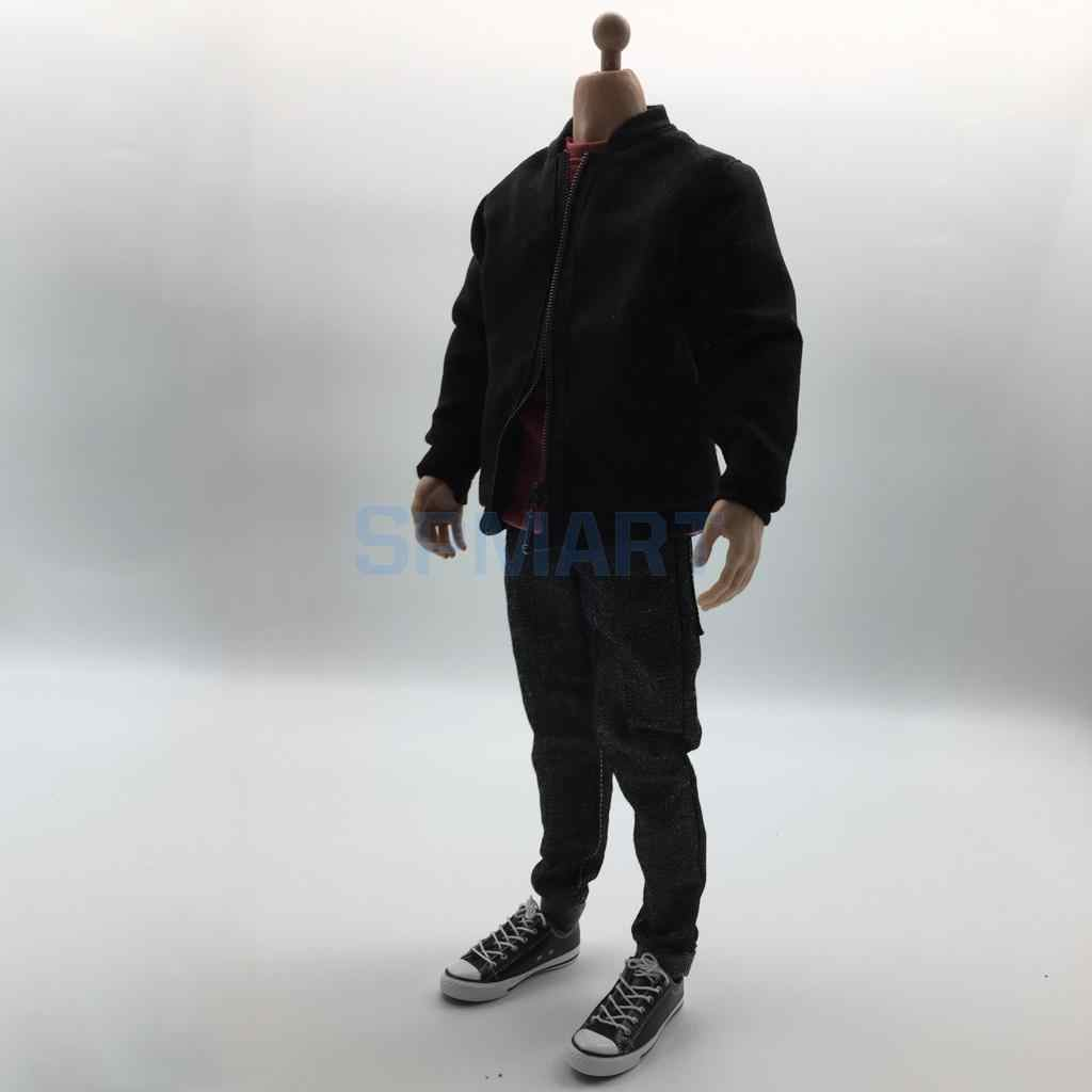 1//6 Male Clothes Bomber Jacket Jeans Pants for 12/'/' Action Figure Body Toys