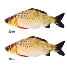 Cat Favor Fish Toys Stuffed Fish Shape Sisal Hemp Cat Scratch Board Scratching Post Toys For Cats Products 20cm/30cm