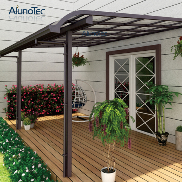 Aluminum Polycarbonated Balcony Shetler Patio Cover 4m Length X 3m Width X  3m Height