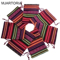 MJARTORIA 10PCs 10x14cm Bunt Tribal Tribe Drawstring Jewelry Gift Bags Pouches Christmas Wedding Gift Bags For Jewelry Packaging