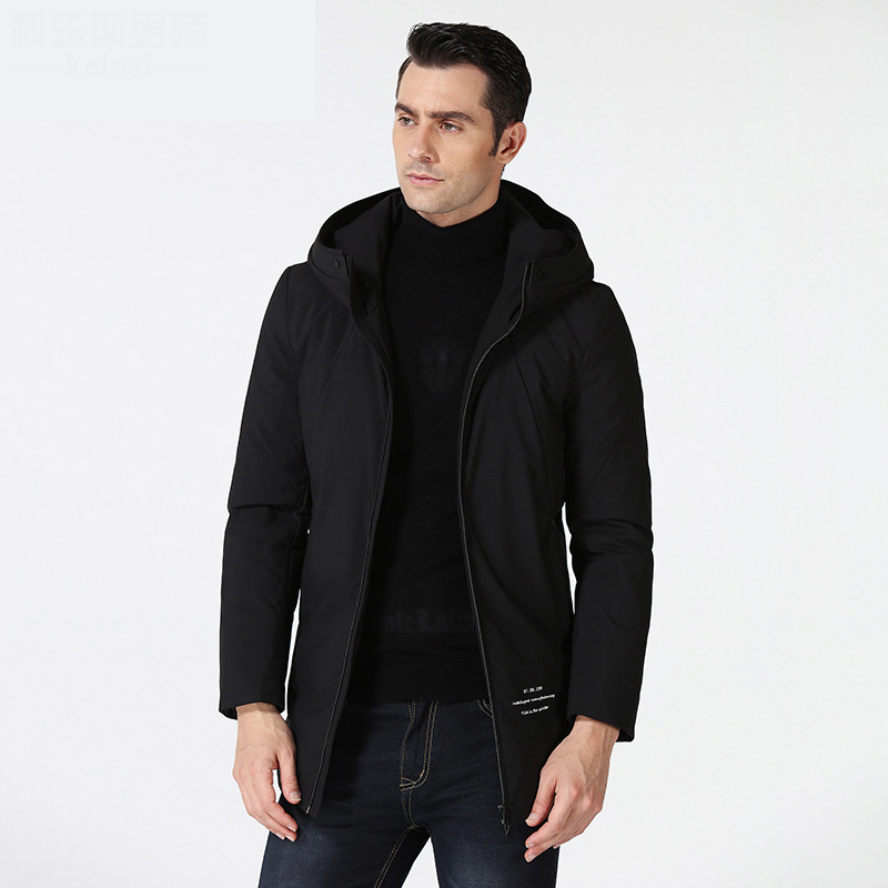 2018 New Long Casual Hooded Daunenjacke Herren High Quality Slim   Coats   For Men
