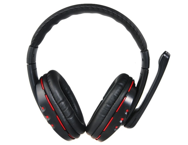 95f511959c1 Black Stereo Bluetooth Wireless Headphones With Mic For Mobile Phone PC  Tablet