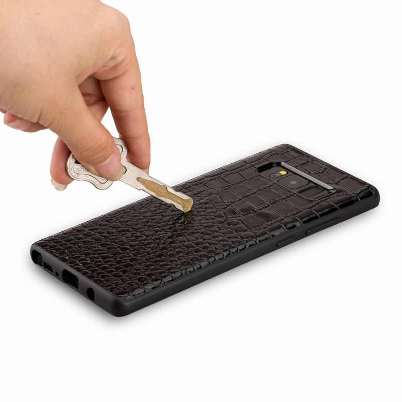 حالات الهاتف حالة التمساح نمط على الغطاء الخلفي حالة الهاتف لسامسونج غالاكسي note8 قذيفة جميع اليدوية معالجة مخصصة