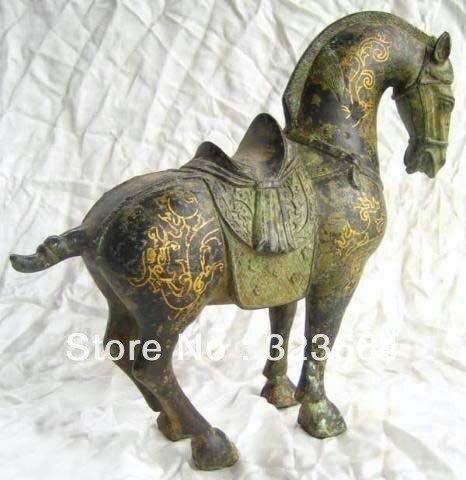Asian Chinese Wonderful Bronze Horse Statue|statue|statue horse|statue bronze - title=