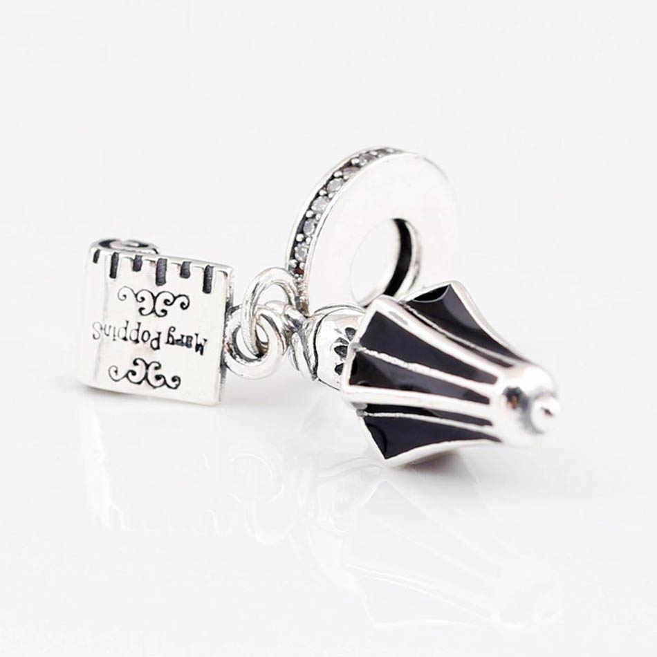 925 стерлингового серебра DIY Ювелирные изделия Mary Poppins зонтик подвесной Шарм fit Pandora браслет леди подарок