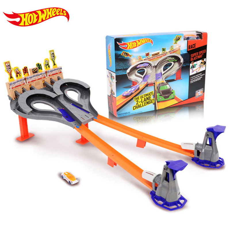 Hotwheels Track Car Race Toy Kids Toys Plastic Metal Miniatures Cars Toys Machines For Children Gift Brinquedos Educativo CDL49