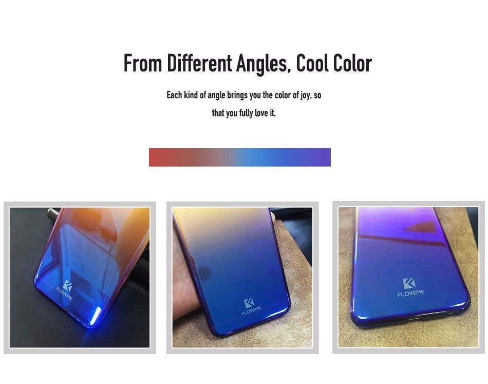 Floveme niebieski ray gradientu przypadki telefonów dla iphone 5 5s se 6 7 6 s plus case do samsung s8 s6 s7 pokrywa dla xiaomi redmi 4 mi5 krawędzi 9