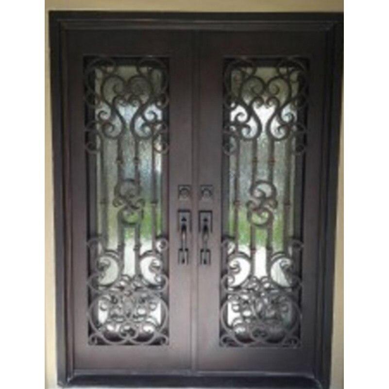 Двойной записи деревянные двери роскоши, двойные входные двери арочные двойные входные двери железные двери
