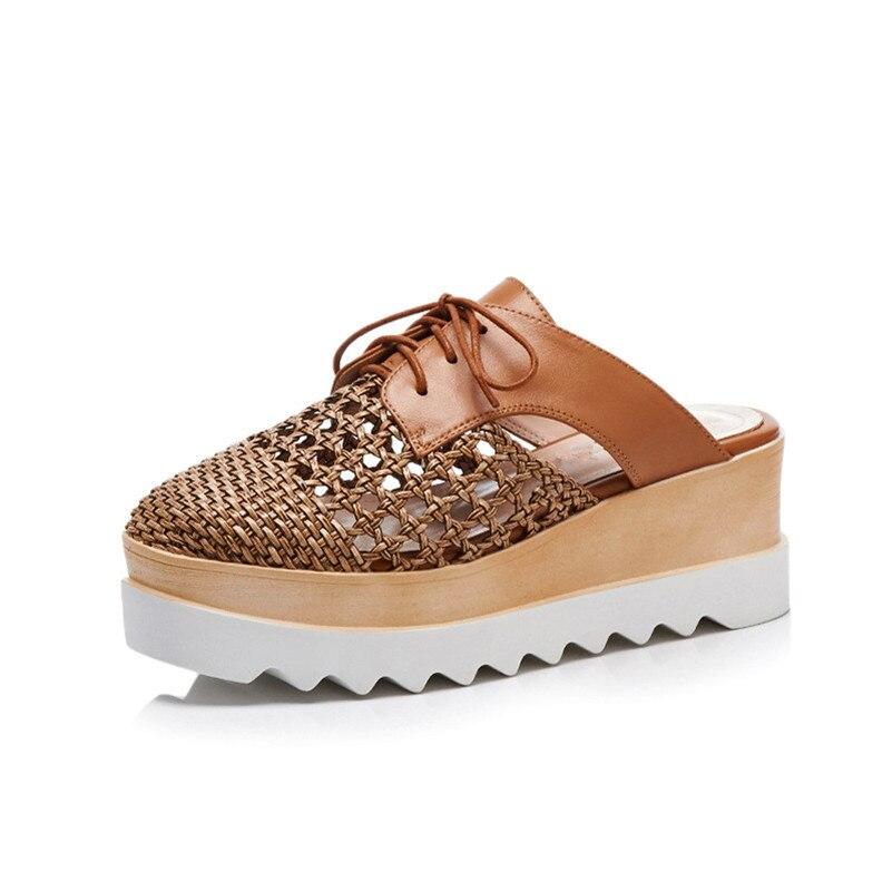 Ayakk.'ten Yüksek Topuklular'de FEDONAS Kadın Sandalet moda terlikler Takozlar Yüksek Topuklu Yaz Platformları Ayakkabı Kadın Yüksek Kaliteli Gümüş Kahverengi Sandalet Kadın'da  Grup 3