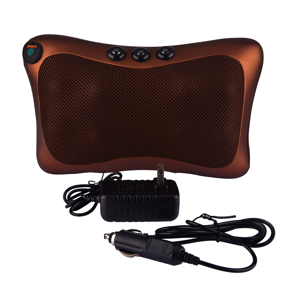 Electric Infrared Heating Kneading Massage Pillow Magnetic Therapy Neck Back Waist Body Relaxation Shiatsu Massager 8 Heads все цены
