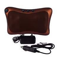 Electric Infrared Heating Kneading Massage Pillow Magnetic Therapy Neck Back Waist Body Relaxation Shiatsu Massager 8 Heads