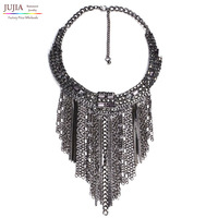 New Very Hot Sale Wholesale Women Fashion Necklace Costume Chain Long Tassel Maxi Pendant Statement