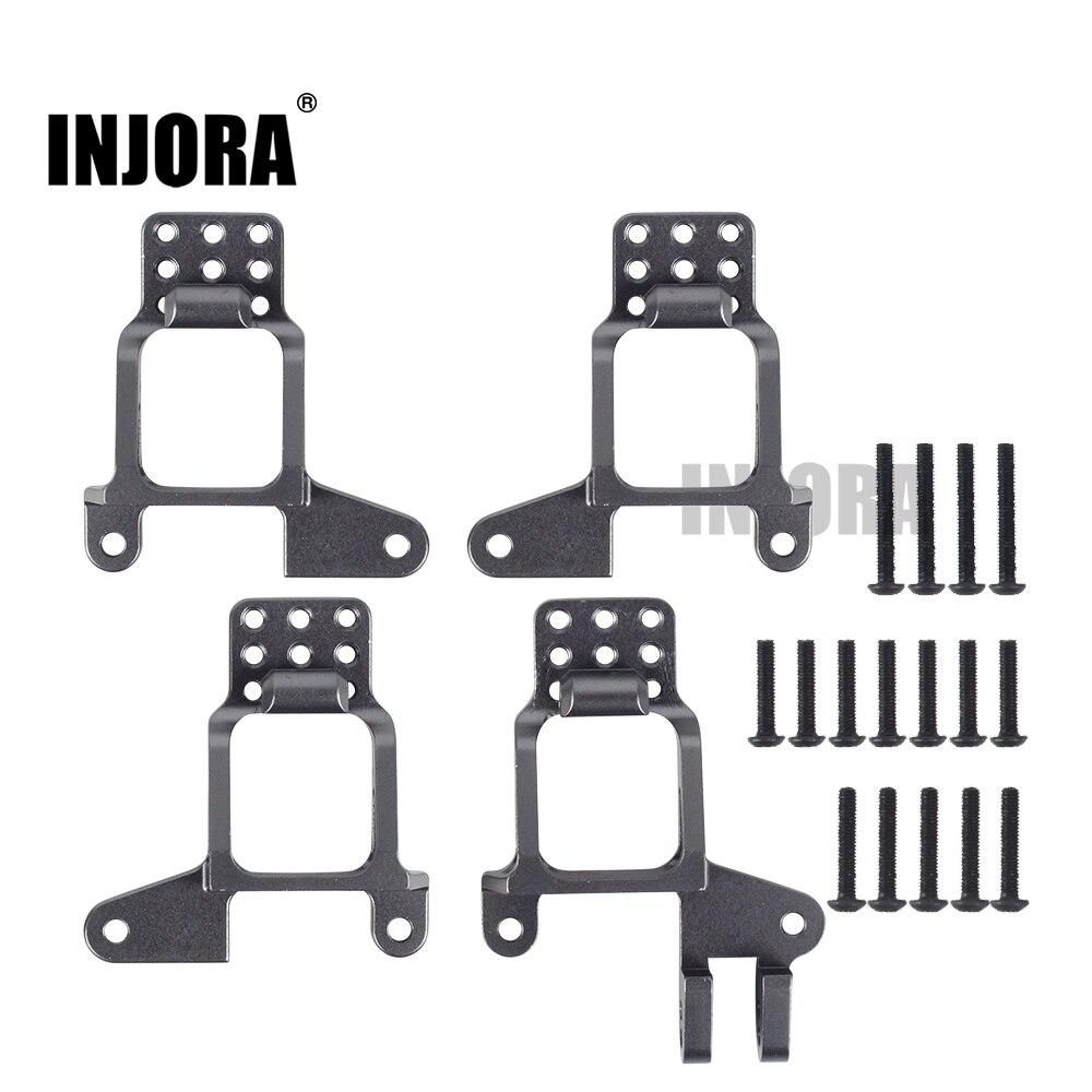 INJORA 4PCS Aluminum Front & Rear Shock Towers Mount For 1/10 RC Crawler TRX-4 TRX4 8216 Upgrade Parts