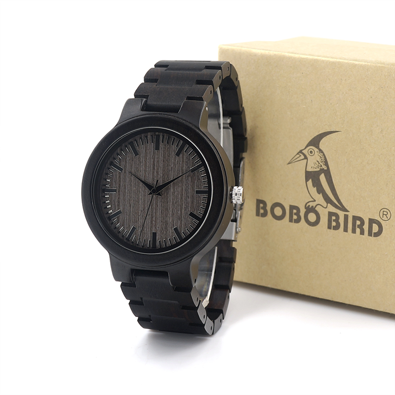 BOBO BIRD TOP Brand Watches C30 Wood Men Watches Wooden Strap Luxury Watches Male Clock Fashion Watch Relogio sihaixin men watch de wood top brand red calender special watches for male with unique design all wooden clock man relogio