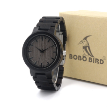 BOBO BIRD TOP Brand Watches C30 Wood Men Watches Wooden Strap Luxury Watches Male Clock Fashion