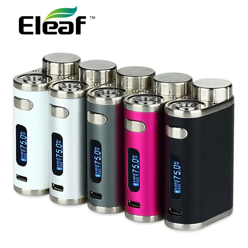Original 75W Eleaf iStick Pico TC Box MOD Vape Vaporizer Temp Control Mod E-cig NO 18650 Battery fit Melo 3/Melo 3 Mini Atomizer newest and hotest product e cig vapor mod god 180s with 220w box mod dry herb smy god 180s mod