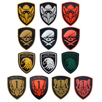 20pcs Rubber MOH Eagle Patch 3D PVC Soldier Tactical Badge Combat Armband Military Brassard chevrons Wholesale