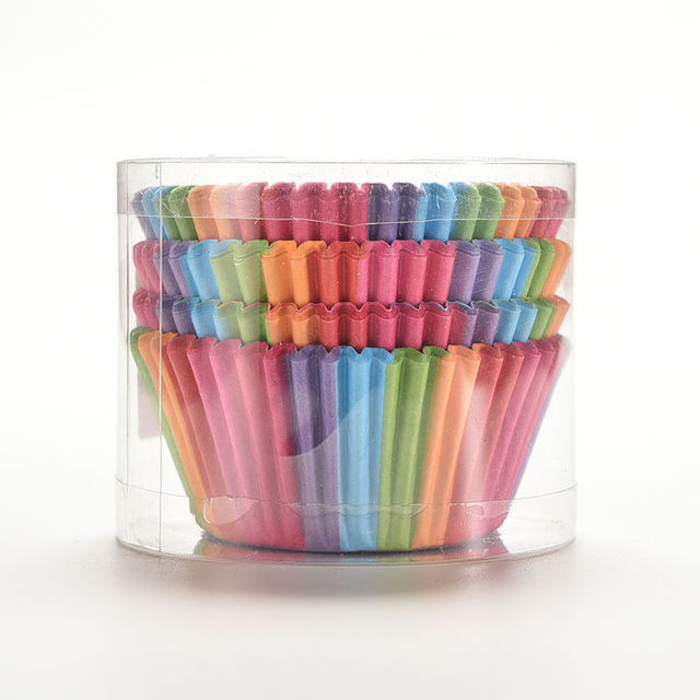 Rainbow Color Cupcake Case,100 pcs