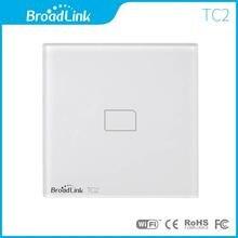 Nuevo estándar de la ue Broadlink TC2 Wireless 1 Gang luz de la pared Wifi interruptor de pantalla táctil de Control remoto la automatización del hogar inteligente