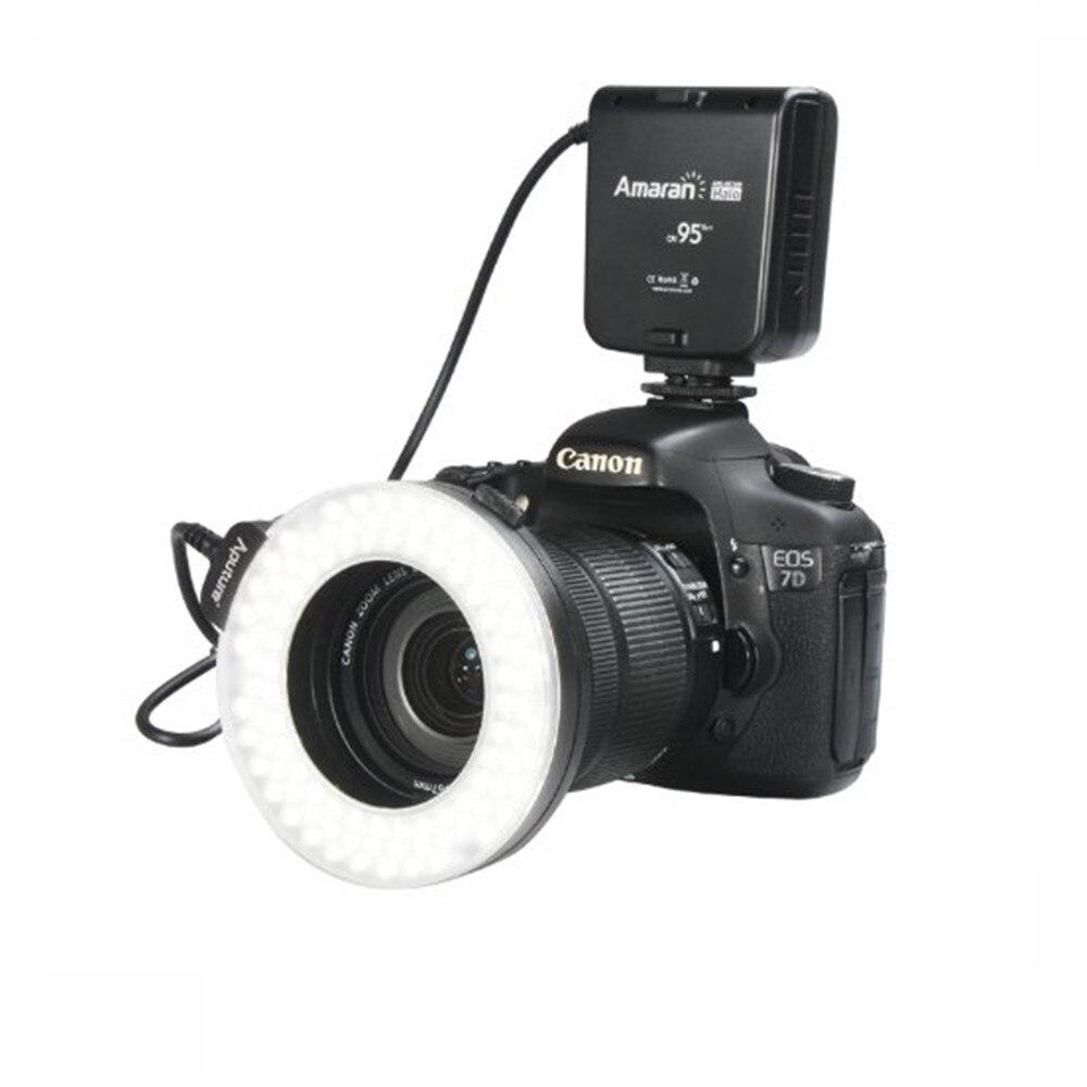 Aputure HN100 CRI 95 + LED Macro Ring Flash Light for Nikon D7100 D5200 D800 D610 D90 DSLR Camera Flashes LED Photo Light aputure amaran hn100 cri 95 halo ring 6w 1020lm 5500k 100 led flash lamp for nikon cameras black