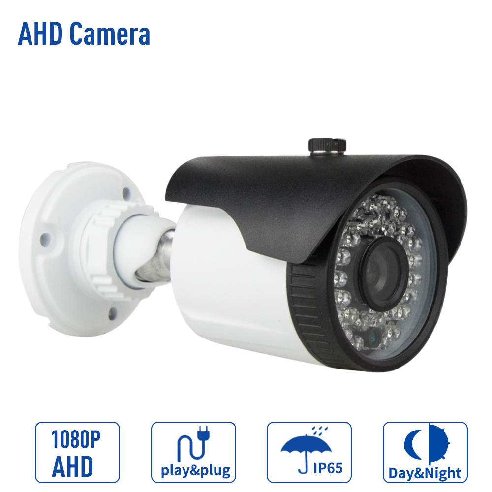 CCTV Night Vision Analog High Definition AHD 1080P HD 2.0MP IP66 Waterproof Outdoor Surveillance Cam AHD Camera cctv ahd h camera 2 0mp1080p hd analog outdoor waterproof ip66 bnc 40m cctv security night vision cameras de seguranca hot sale