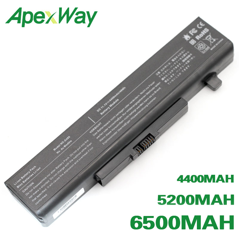 ApexWay 6 cells Battery for Lenovo ideaPad G400 G480 G485 G500 G580 G585 Y480 Y480N Y480P Y485 Y485N Y485P Y580 Y580N Y580P Z380|laptop battery for lenovo|laptop battery|battery for lenovo laptop - title=
