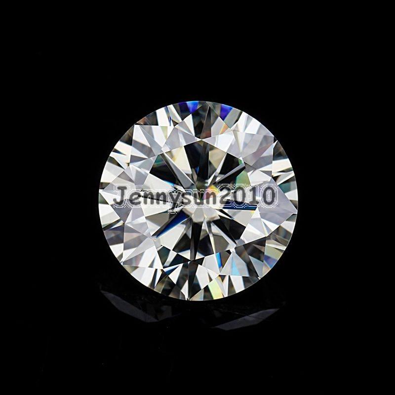 Brilliant Cut Round 1 Carat to 4 Carat Genuine Loose Moissanites IJ 3mm to 10mm VVS1/2 Grade Gems Stone