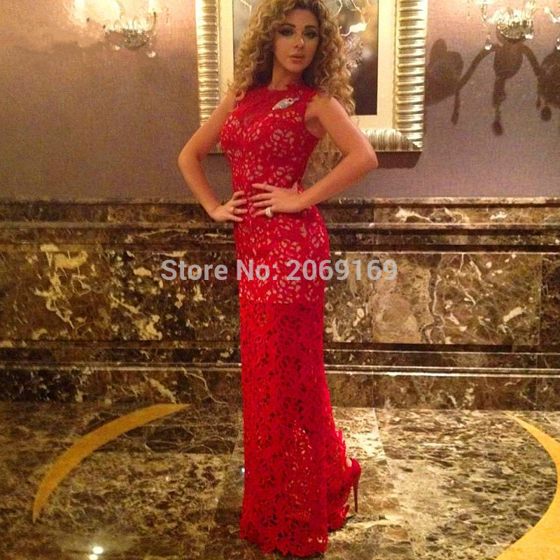 Elegant Red Lace Kaftans Evening Dress Turkey 2019 Formal Long Caftan Dubai Arabic Gowns With Detachable Train Robe Sirene Evening Dresses