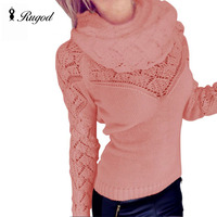 Autumn 2015 New Fashion Sweater With Scarf
