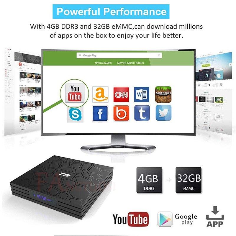 FANGTUOSI T9 TV Box Android 8,1 4 GB 32 GB 64 GB Smart TV Rockchip RK3328 1080 p H.265 4 K Google Netflix, Youtube reproductor de medios - 4