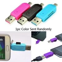 2in1 Micro USB OTG Kartenleser Universal USB TF/SD Kartenleser Telefon Verlängerung Sockel Micro SD Karte Adapter für Android PC