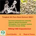 200:1 Raiz de Tongkat ali Extrato Em Pó Sexo Muito Tempo Para Os Homens 500 mg 200 CAPS