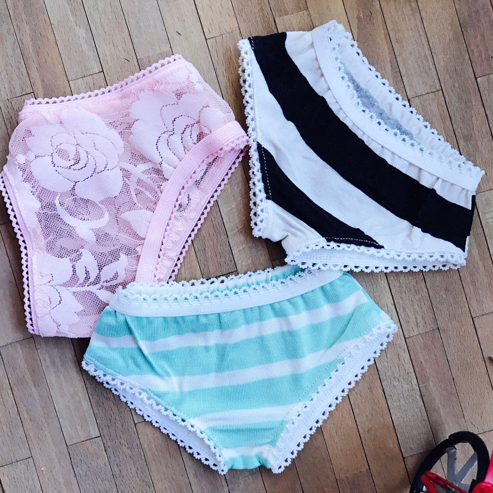 New 1/4 1/6 BJD MSD YOSD Doll Clothes pink/Sky blue/black Lace Underwear