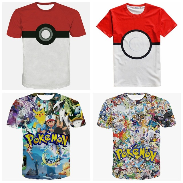 0859ecdc Teenage Boys Top 2016 New Pokemon Games T shirt Short Sleeve Pikachu Print  Plus Size For