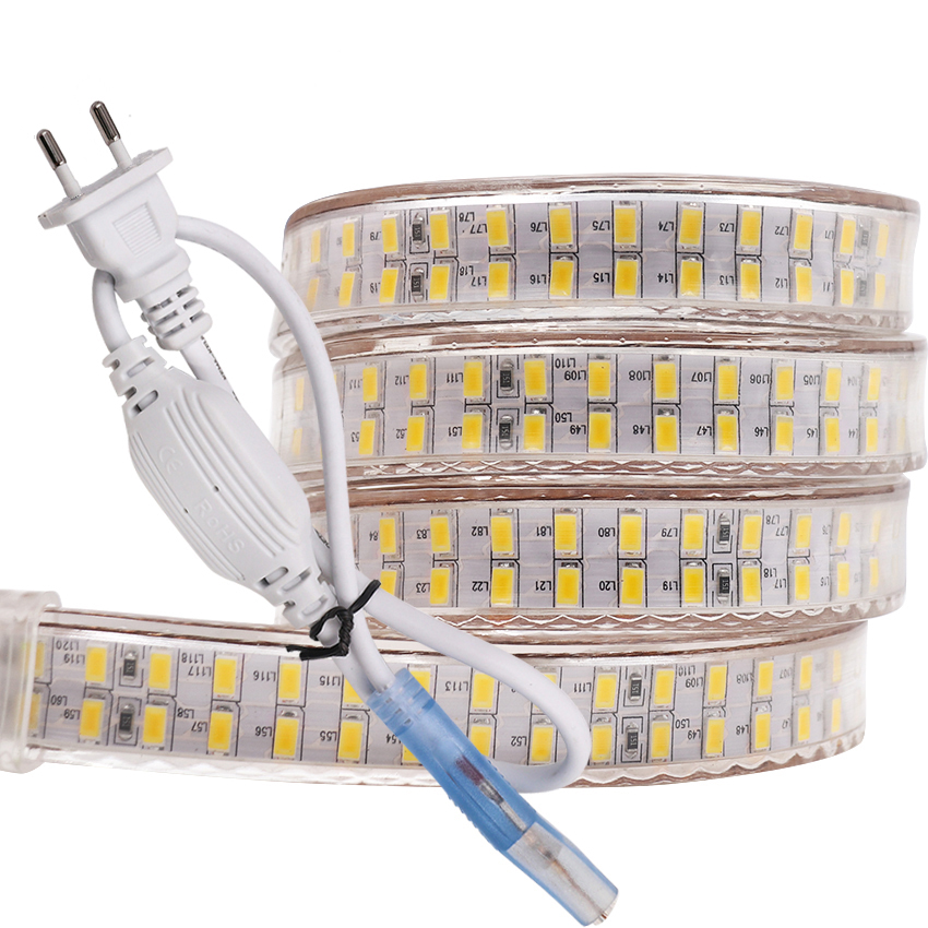 240leds/m SMD 5730 Led Strip 220v 110V Flexible Waterproof Led Tape 5630 1m 2m 5m 10m 20m 50m 100m + Power EU Plug / US Plug