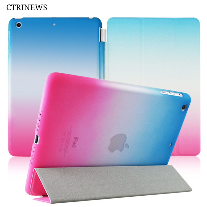 CTRINEWS Case For ipad 4 Air 2 Smart Flip Stand Leather Cover For ipad 2017 A1822 Mini Tablet Protective Case Auto Sleep/Wake rygou for ipad air 1 air 2 case wake up sleep function smart cover tablet pu leather case for flip cover ipad air 2 tablet