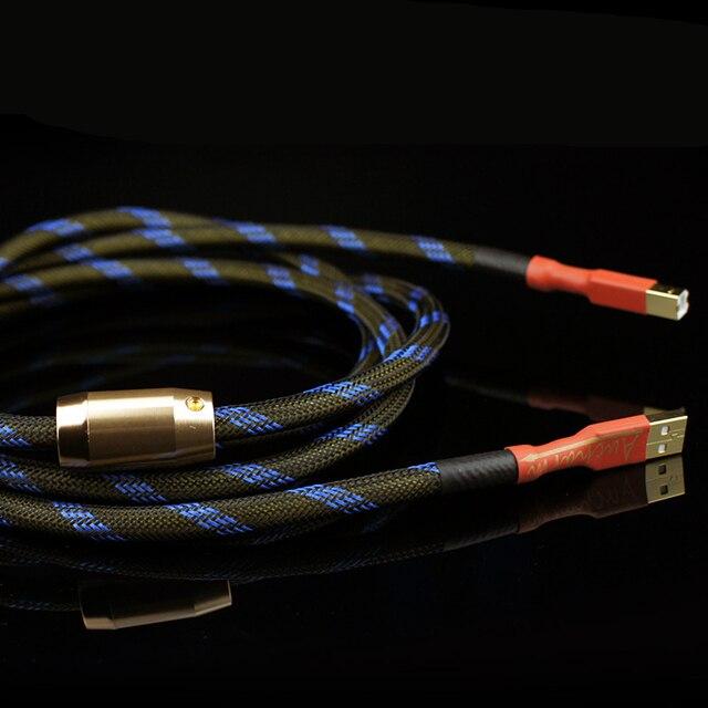 Aucharm decodificador de cobre sin oxígeno 4N, tarjeta de sonido, Cable de Audio DAC, líneas de datos, Cable USB HiFi 2,0